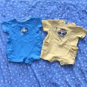 0-3 month onesie shorts